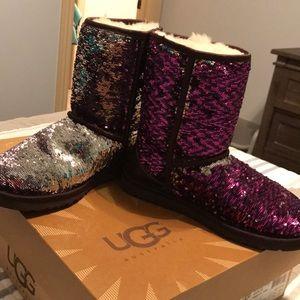 women s purple sparkle uggs on poshmark rh poshmark com